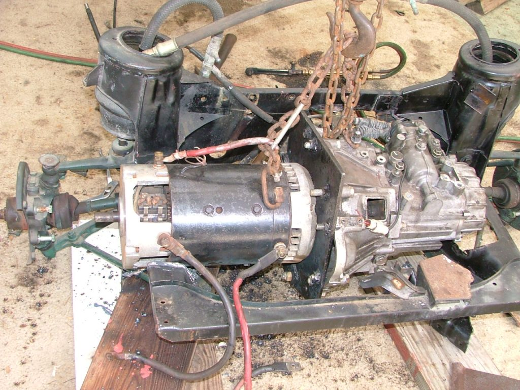 install motor and tranny on sub frame