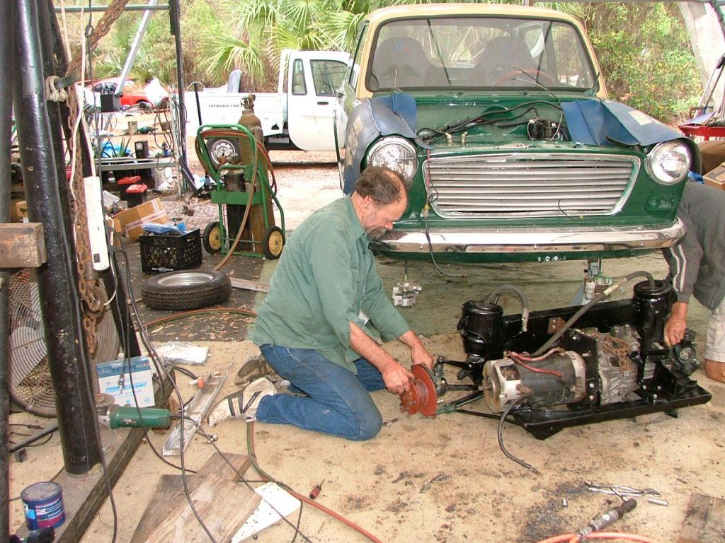 getting motor into sub frame
